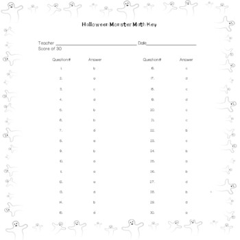 Halloween Monster Math & Problem Solving Skills