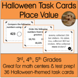 Place Value Halloween-Themed Math Task Cards 3rd, 4th, 5th Grades