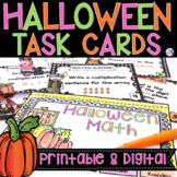 Halloween Math Task Cards   Place Value, Rounding, Multipl