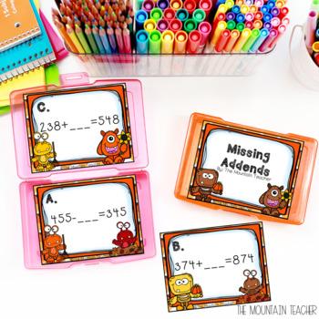Halloween Math Task Cards (Second Grade)
