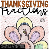 Thanksgiving Math Fractions Color by Number {Thanksgiving Activities}