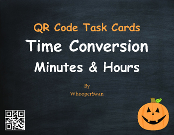 Halloween Math: Time Conversion: Minutes & Hours QR Code T