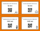 Halloween Math: Time Conversion: Minutes & Seconds QR Code Task Cards
