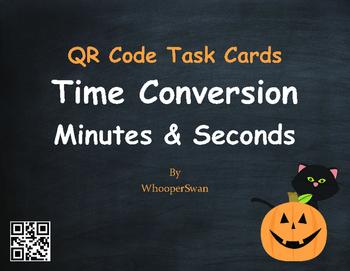 Halloween Math: Time Conversion: Minutes & Seconds QR Code