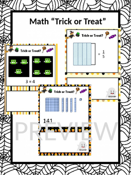 "Halloween Math ""Trick or Treat"" Game"