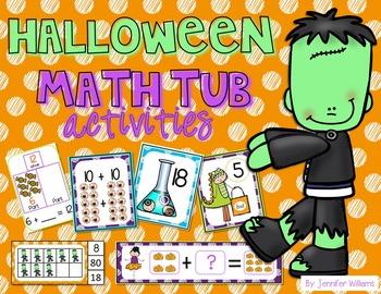 Halloween Math Tub Activities