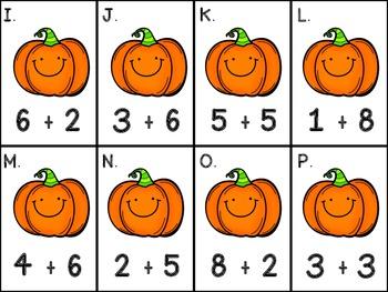 Halloween Math Tubs - Gr.1 CCSS Aligned