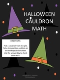 Halloween Math - Two-Digit Addition Cauldrons