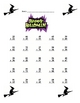 Halloween Math Two Digit Addition Work sheets With a key
