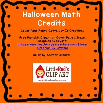 Halloween Fall Math Two Step Equations Maze & Color by Number Coloring Page
