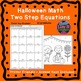 Halloween Fall Math Two Step Equations Maze & Color by Num
