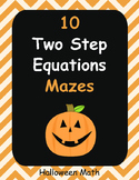 Halloween Math: Two Step Equations Maze