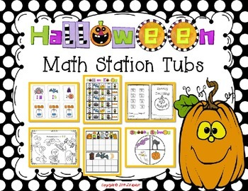 Halloween Math Tub Stations