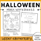 Halloween Math Worksheets (4th and 5th Grade)