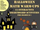 Halloween Math Warm-Ups: 15 Interactive SmartBoard Activities for Grades K-1