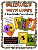 Halloween Math Wars Card Game (+, -, and x)