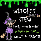 Halloween Snack Math: 'Witches' Stew' (EDITABLE)