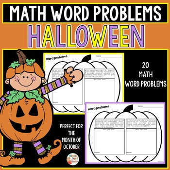 Halloween Math Word Problems - First Grade