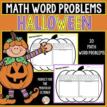 Halloween Math Word Problems (First Grade)