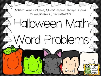 Addition and Subtraction Word Problems - Halloween Math