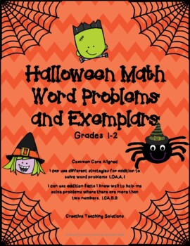 Halloween Math Word Problems and Ememplars