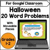 Halloween Math Word Problems for the Google™ Classroom Dis