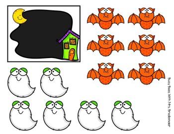 Halloween Math Work Box Activities