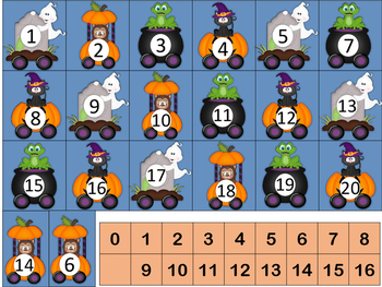 Halloween Math Centers using thinking mats