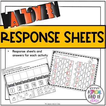 Halloween Math Work Stations for Kindergarten - Aligned to Common Core