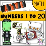 Halloween Math activities for Kindergarten - Aligned to Common Core