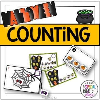 Halloween Math activities for Kindergarten - Aligned to Common Core