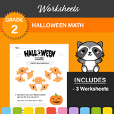 Halloween Math Worksheets (BUNDLE OF 3)! 1st or 2nd Grade