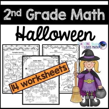 Halloween Math 2nd Grade Worksheets Teaching Resources Tpt