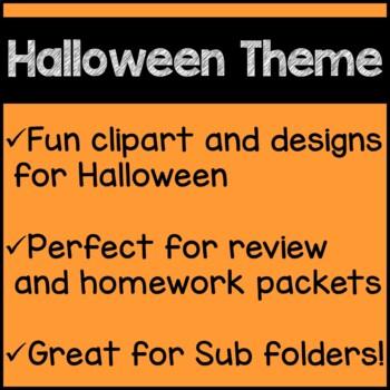 Halloween Math Worksheets 3rd Grade Common Core