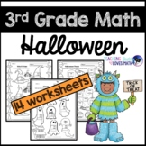 Halloween Math Worksheets 3rd Grade Common Core