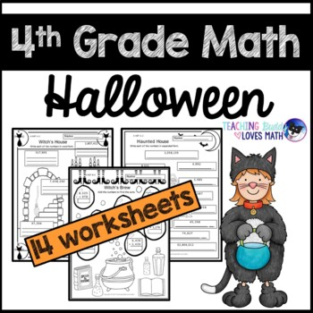 Halloween Math Worksheets 4th Grade Common Core