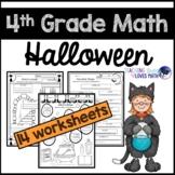 Halloween Math Worksheets 4th Grade Common Core