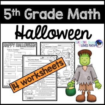 Halloween Math Worksheets 5th Grade Common Core