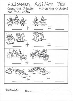 Halloween Math Worksheets For Kindergarten Fun