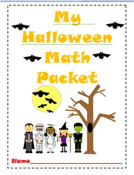 Halloween Math Worksheets (K-1)
