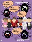 Halloween Writing and Math Activities!