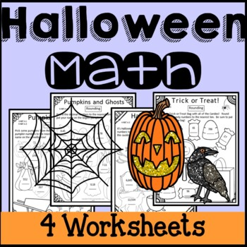 Halloween Math Worksheets Rounding Numbers 3rd Grade 4th Grade 5th Grade