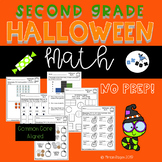 Halloween Math Worksheets Second Grade: Common Core (NO PREP)
