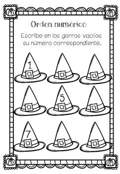 Halloween Math Worksheets en Español