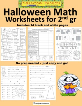 Halloween Math Worksheets for 2nd Grade