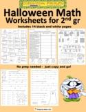 Halloween Math Worksheets for 2nd Grade