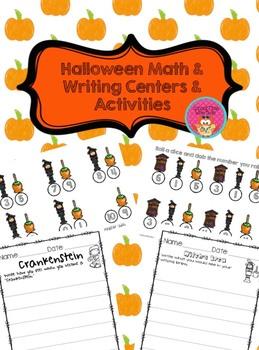 Halloween Math & Writing Centers & Activities