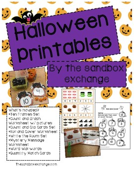 *Freebie* Halloween Math and ELA Activity Packet