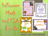 Halloween Math and ELA Bundle