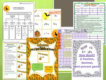 Halloween Math and ELA Bundle